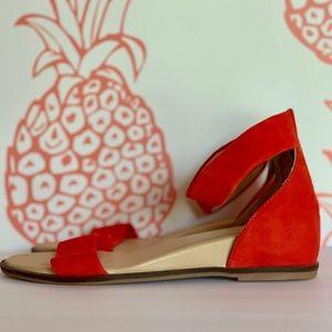 Seychelles Burnt Orange Suede Strap Sandal 11 NEW